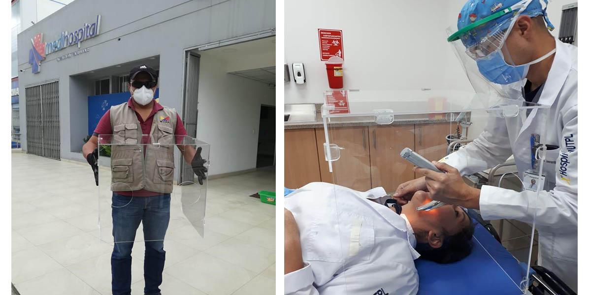 UTPL acopla equipo de protección para personal médico