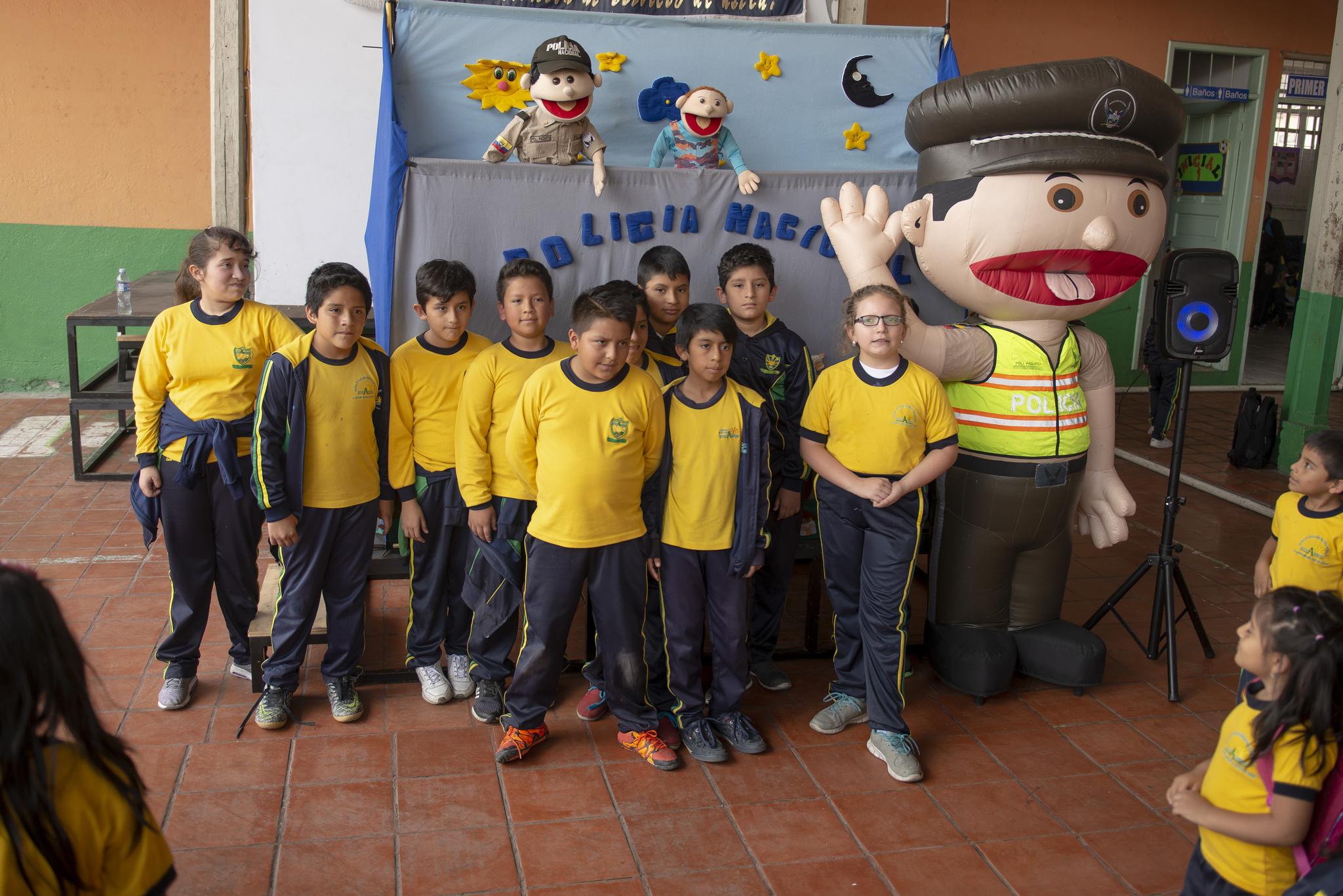 educación vial para niños de la escuela Interandino