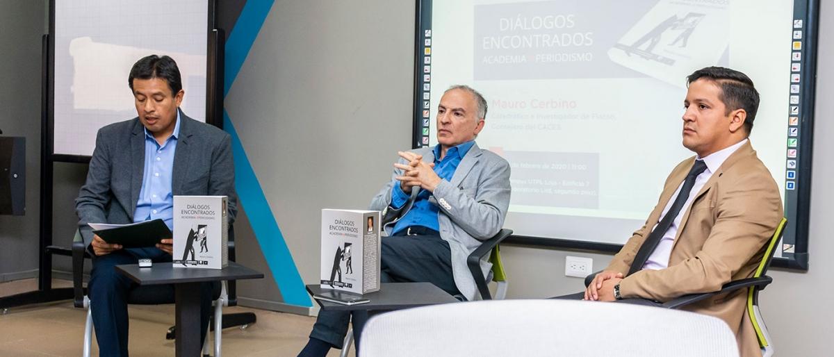Mauro Cerbino presentó su libro sobre academia y periodismo en Loja