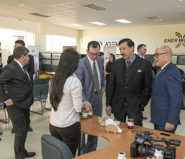 Visita de Nelson Guim, ministro (s) de producción a Prendho