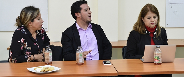 Visita de Lourdes de la Cruz, Subsecretaria de Innovación y Transferencia Tecnológica de Senescyt