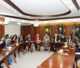Saludo Institucional a ponentes del Congreso de Arte Contemporáneo y Taller Internacional de Urbanismo