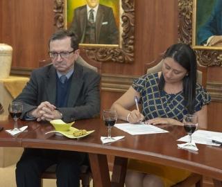 Posesión de autoridades del área sociohumanística y técnica.
