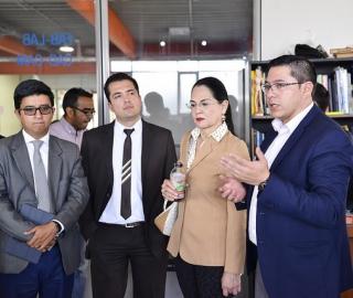 Visita de Mgtr. Eva García Fabre, Ministra de Industrias y Productividad (MIPRO)