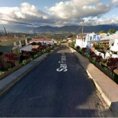 proyección del proyecto Comunidad Verde Participativa en el barrio Tierras Coloradas
