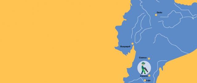 Minería amigable con el ambiente en Zamora Ecuador