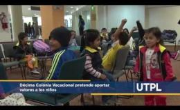 Décima Colonia Vacacional pretende aportar valores a los niños