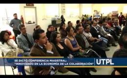"""Se dictó Conferencia Magistral """"Innovando en la economía de la colaboración"""""""